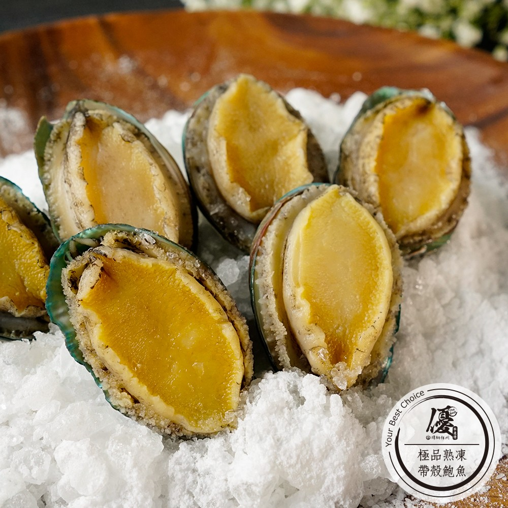 極品熟凍帶殼鮑魚 (6顆/250g)份【水產優】